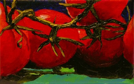 """Tomato Cluster #2"" original fine art by Mary McInnis"