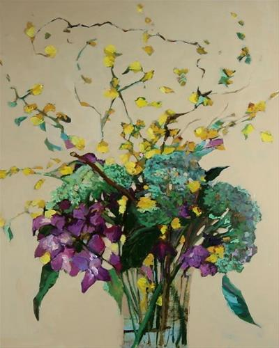 """Original Still Life Hydrangea Oil Painting  Hydrangea by Colorado Artist Susan Fowler"" original fine art by Susan Fowler"