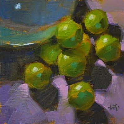"""Limes Galore"" original fine art by Carol Marine"