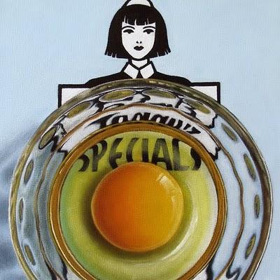 """Egg Study - Today's Specials"" original fine art by Jelaine Faunce"