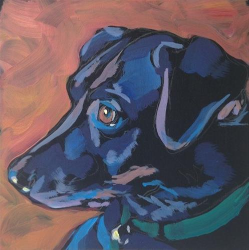 """Ears Alert"" original fine art by Kat Corrigan"