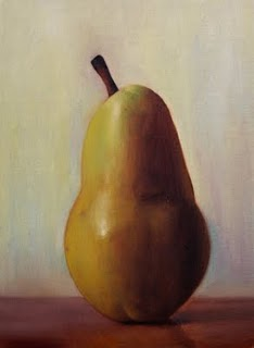 """Pear"" original fine art by Jonathan Aller"