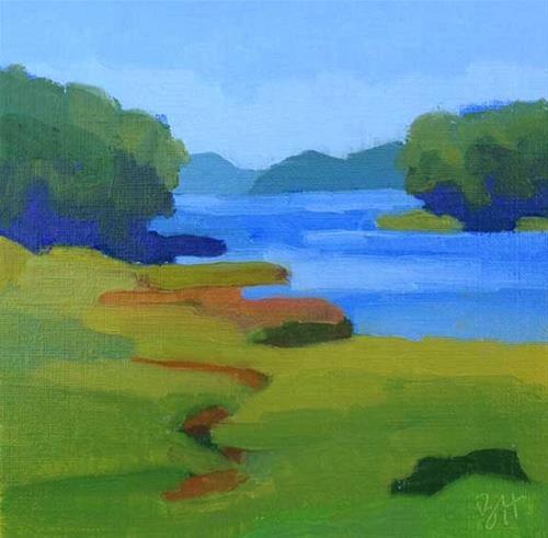 """Tidewater Greens"" original fine art by Bobbi Heath"