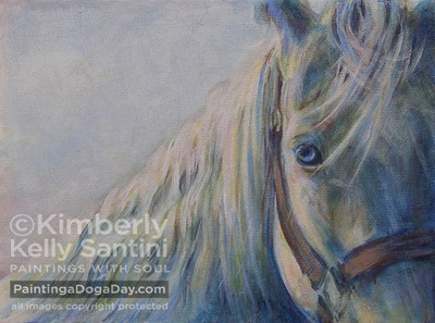 """Derby Week - Horse Paintings at Auction!!"" original fine art by Kimberly Santini"