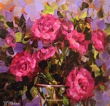 """Pinkquilibrium Roses by Texas Flower Artist Nancy Medina"" original fine art by Nancy Medina"