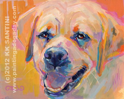 """YELLOW Has a Home!!"" original fine art by Kimberly Santini"