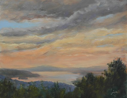 """Hudson Skies"" original fine art by Jamie Williams Grossman"
