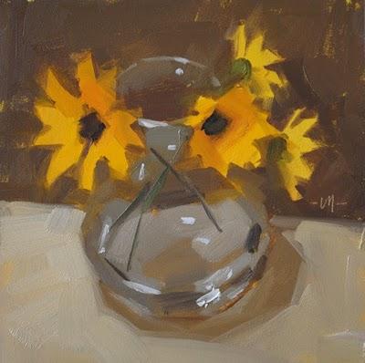 """""""Sittin' Perty"""" original fine art by Carol Marine"""