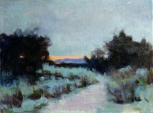 """""""Sunset 6"""" original fine art by Susan Hammer"""