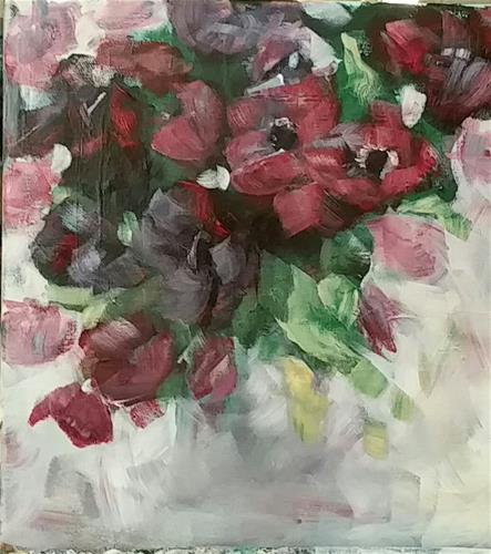 """Springflowers"" original fine art by Sabine Hüning"