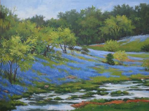 """'My Blue Heaven' An Original Oil Painting by Claire Beadon Carnell"" original fine art by Claire Beadon Carnell"
