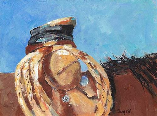 """Saddle"" original fine art by Suzy 'Pal' Powell"