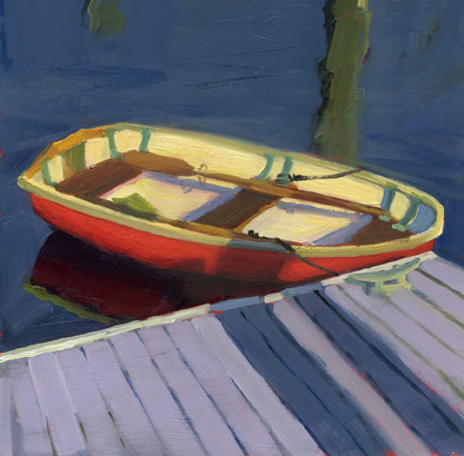 """Skiff 2"" original fine art by Kathy Weber"