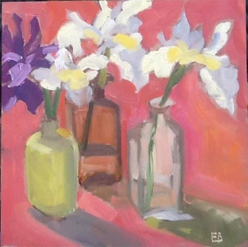 """More Iris"" original fine art by Elizabeth Bish"