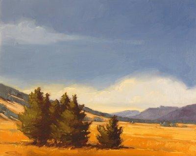 """""""Mountain Meadow"""" original fine art by Laurel Daniel"""