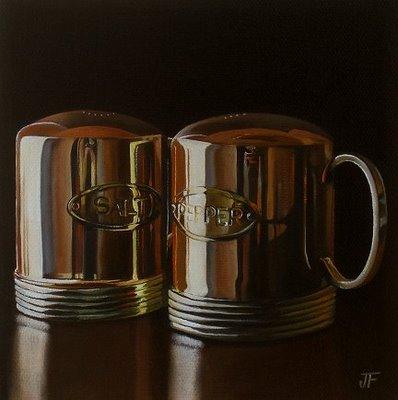 """""""Salt & Pepper"""" original fine art by Jelaine Faunce"""