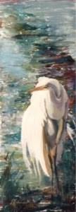 """Day 10 - Marsh Solitude 2"" original fine art by Lyn Gill"