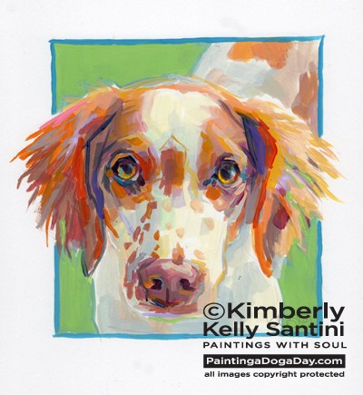 """Pippa"" original fine art by Kimberly Santini"