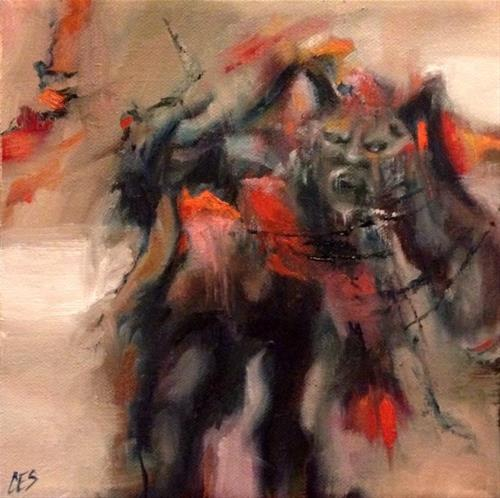 """Krampus"" original fine art by ~ces~ Christine E. S. Code"