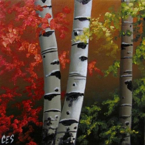 """Autumn Trio"" original fine art by ~ces~ Christine E. S. Code"