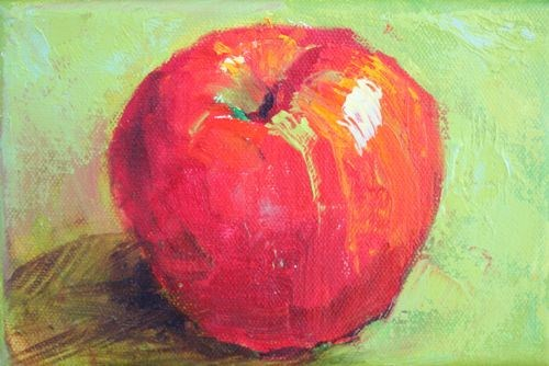 Perfect Apple Still Life Painting by Arizona Artist Amy Whitehouse original fine art by Amy Whitehouse