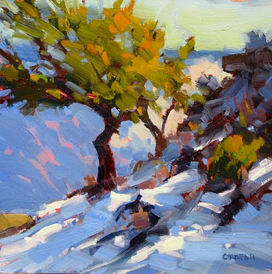 """Winter Canyon Edge"" original fine art by James Coulter"