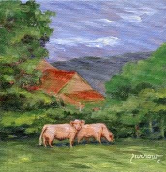 """Farm near Bedford, Va."" original fine art by Sue Furrow"