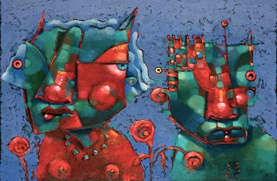 """Lovejoy And The Devil Of Delight"" original fine art by Brenda York"