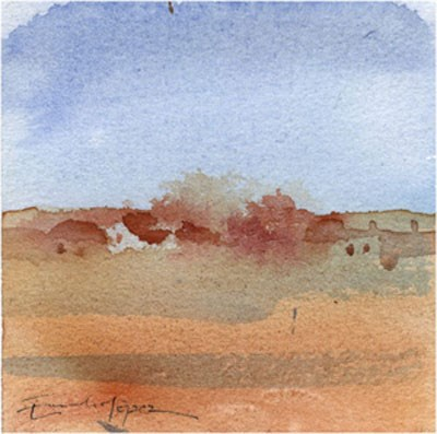 """paisaje 155"" original fine art by Emilio López"
