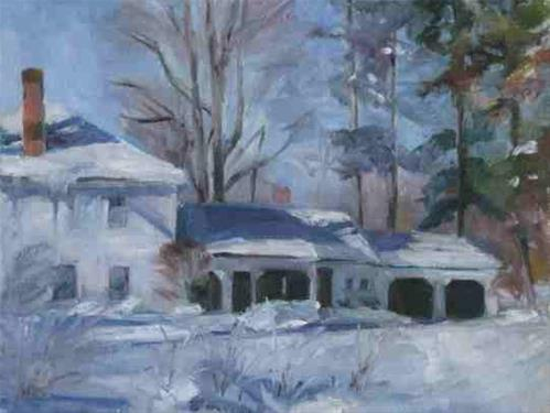 """Neighbor's After Snow"" original fine art by Katie Wilson"