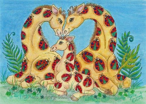 """And Baby Makes Three..."" original fine art by Kim Loberg"
