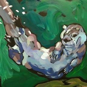 """""""SchaWOOP!"""" original fine art by Kat Corrigan"""