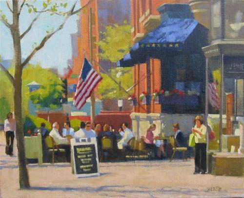 """Spring on Newbury"" original fine art by Kathy Weber"