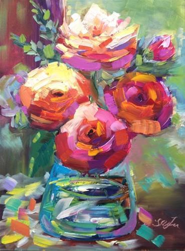 """Roses"" original fine art by Lisa Fu"