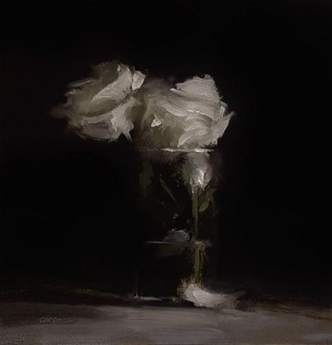 """Pint of Roses"" original fine art by Neil Carroll"