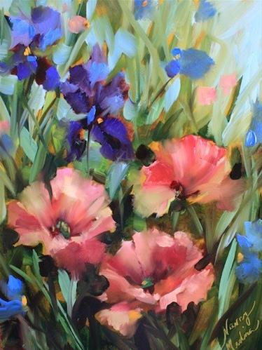 """Pink Poppies and the Thing for Which I Shall Be Famous - Flower Paintings by Nancy Medina"" original fine art by Nancy Medina"