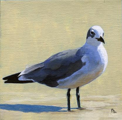 Seagull challenge original fine art by Ria Hills