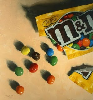 """Spilled M&M's"" original fine art by Michael Naples"