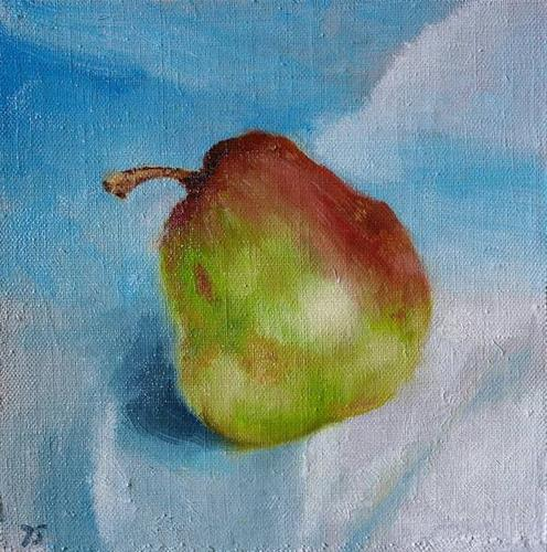 """1 pear"" original fine art by Yuriy Semyonov"