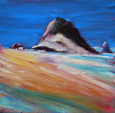 """Coastal Drama Cannon Beach"" original fine art by Pam Van Londen"