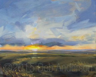 """Oil Painting: Fog at Sunrise"" original fine art by Deb Anderson"