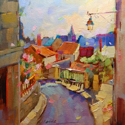 """My Heart's Already There--La France"" original fine art by Dreama Tolle Perry"