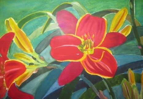 """Day Lilly"" original fine art by Priscilla Bohlen"