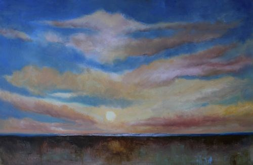 """Sunset, Landscape Paintings by Arizona Artist Amy Whitehouse"" original fine art by Amy Whitehouse"