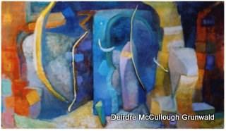 """""""Dream Door(AKA Passageways)"""" original fine art by Deirdre McCullough Grunwald"""