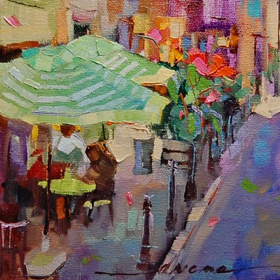 """France, Color, You 'n' Me SOLD"" original fine art by Dreama Tolle Perry"