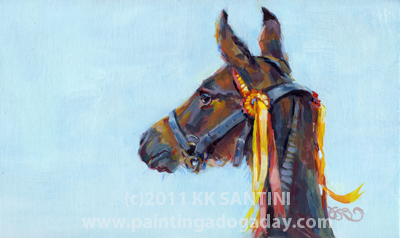 """All Dressed Up, A Rerun"" original fine art by Kimberly Santini"
