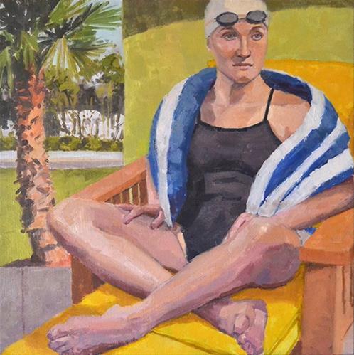 """Waiting For a Lap Lane"" original fine art by Andrew Daniel"