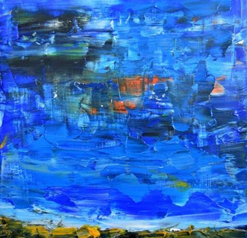 """Landscape No 55"" original fine art by Katie Jeanne Wood"