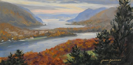 """Hazy Day in the Hudson Highlands"" original fine art by Jamie Williams Grossman"